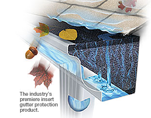 The industry's premiere insert gutter protection product.